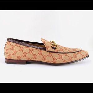 Gucci New Jordaan Horsebit Supreme Canvas Loafers